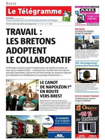 Le Telegramme (Brest) Du Mardi 16 Octobre 2018