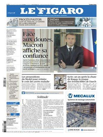 Le Figaro Du Mercredi 17 Octobre 2018