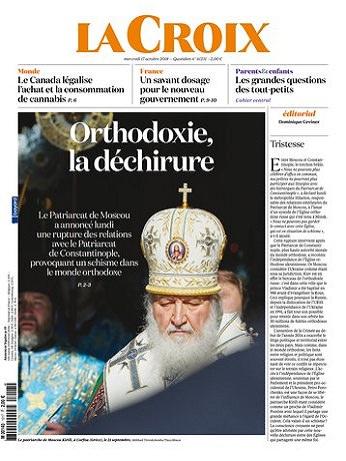 La Croix Du Mercredi 17 Octobre 2018